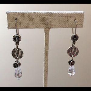 SILPADA CZ Disc Dangle Earrings Sterling W1757